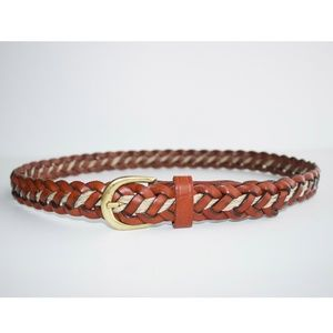 VINTAGE County Seat Braided Leather Belt